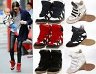Womens Velcro Strap High-TOP Sneakers Shoes/Ladys Ankle Wedge Boots Hot Sale