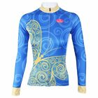 Blue Butterfly Sportwear Cycling Clothing Long Sleeve Bike Bicycle Jersey Top