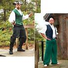 Black or Green Pirate Pants. Perfect For Re-enactment Stage Costume & LARP