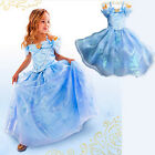 2015 Sandy Girls Princess Party Movies Cinderella Costume Gown Full Dress 3-10Y