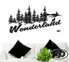 "Wall Decal  Hunting Outdoors 22"" Tall 43"" Wide in White or Black"
