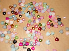 100 Solid Pearl Heart Beads Wedding Craft 5mm Various Colours On Listing