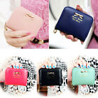 #gb Lady PU Leather Wallet Zip Around Coin Purse Card Holder Clutch Handbag Tote