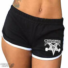 "THRASHER ""Skategoat"" Night Shorts Roller Derby Black XS S M L Skateboard Mag"