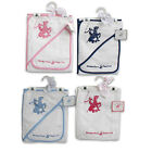 BEVERLY HILLS POLO CLUB BABY INFANTS 2pc HOODED TOWEL AND WASHCLOTH GIFT SET NWT