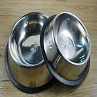 Stainless Steel Pet Dog Cat Puppy Travel Feeding Feeder Food Bowl Water Dish