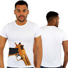 Golden Gun Print Fitted T-Shirt Urban life Monkey Business Is HipHop Money Time