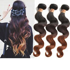"US Local Brazilian Human Hair 1/2/3Bundles Size:16""-20""  Color :1B/4/30# 50g/pc"