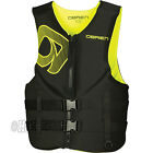 O'Brien Men's Neoprene Life Preserver Safety Vest Jacket Adult Sizes YELLOW
