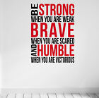 Be Strong & Brave Gym Motivational Wall Decal Quote Crossfit Fitness Workout MMA