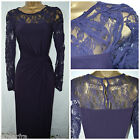 NEW PHASE EIGHT MAXI DRESS PURPLE BLACKBERRY FLORAL LACE PARTY OCCASION 8 - 16