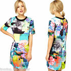 NEW Fashion Women's Colorful Floral Short Sleeve Slim Vintage Style Zipper Dress