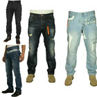 MENS NEW JEANS EM459 DARKWASH-COATED TAPERED LEG JEANS BARGAIN PRICE RRP £44.99