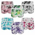 WOMENS BOTTOMS SUMMER SWIMMING SHORTS LADIES FLORAL BEACH SURF BOARD SIZES 6-14