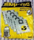 Shop Vac 8-10L Vacuum Cleaner Bags Part No 90668 Pk5 - NEW - GENUINE - IN STOCK