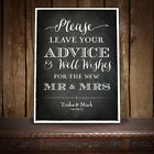 GUEST BOOK SIGN PERSONALISED VINTAGE CHALKBOARD STYLE - ONDISE