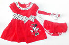 Disney Baby Infant Girls Minnie Mouse Dress Headband Bloomers 0-3M 3-6M 6-9M NWT