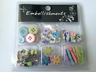 COOL Scrapbooking embellishment themed kit brads, etc- BUY 5 - GET FREE SHIPPING