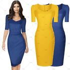 Summer Sales Ladies Elegant Evening Party Formal Businesss Pencil Blue Dresses