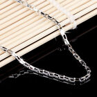 Fashion Men Women 925 Sterling Silver 2MM Box Chain Couple Necklace 18-19""