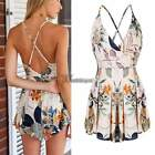 New Womens sexy jumpsuit High Waist backless Playsuit Shorts Rompers Trousers