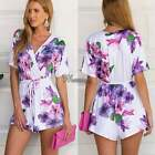 Sexy Women's Short Sleeve Playsuit Romper Jumpsuit Casual Evening Bodycon Shorts