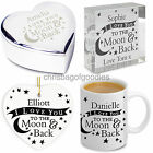 PERSONALISED I LOVE YOU TO THE MOON AND BACK Gifts for Her Him Birthday Novelty