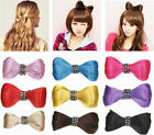 Bowknot Clip Hairpiece Headwear Crystal Extensions Ponytail Holder Cosplay Wigs