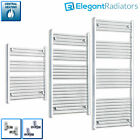 700 mm Wide Chrome Ladder Heated Towel Rail Radiator Designer Straight / Curved
