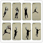 Basketball Player Transparent Crystal Hard Case Cover For Apple iPhone 6 6 Plus