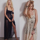 Bridesmaid Empire Waist Womens Evening Formal Gown Wedding Party Maxi Lace Dress