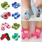 0-12Month Baby Newborn Infant Toddler Crochet Knit Crib Shoes Prewalker Slip-On