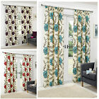 Floral Lightweight Pencil Pleat Tape Lined Curtain Pairs By Hamilton McBride®