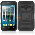 For ALCATEL ONE TOUCH EVOLVE2 4037T Hybrid Rugged Impact Holster Clip Case Cover