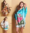 Oriental floral Robes Pyjama Bat shirt Sleep Night DressNightwear for women
