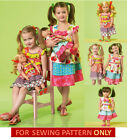 SEWING PATTERN! MAKE MATCHING BOUTIQUE STYLE DRESS FOR GIRL~AMERICAN GIRL DOLL!