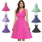 Jive Vintage Retro Style 1950s Housewife Rockabilly Pinup Swing Party Prom Dress