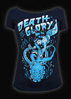 Punk Gothic Death or Glory Women Shirt Goth Clothing Black Octopus Christmas