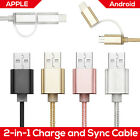 2 in 1 Lightning Charger Data Sync Cable with Micro USB for Android APPLE Device
