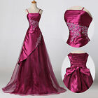 Plus Size Bridesmaid Prom Masquerade Ball Gown Long Wedding Evening Party Dress