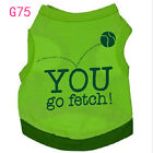 34 Types Summer Pet Puppy Shirt Small Dog Pet Clothes Vest T Shirt, Free Shipping
