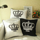 "18""Temperament Noble crownThrow Sofa Car Auto Bed Pillow Case Cushion Cover"