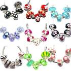 5 x Glass Charm Beads Sets for European SilverSnake Chain  Charm Bracelets