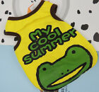 Pet Dog Clothes Cute Shirt Skirt Cotton Colorful Frog