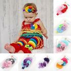 Cute Newborn Baby Girl Infant Children Toddler Headband Flower Elastic Hair Band