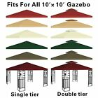 Canopy Replacement Top 10'x10' Patio Pavilion Gazebo Sunshade Polyester Cover