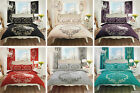 Deluxe Script Printed Duvet Quilt Cover Bedding Set With Pillowcases - S D & K »