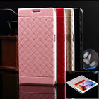 Luxury Leather Flip Wallet Case Stand Cover For Samsung Galaxy S6/S6 Edge w/Film