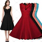 Womens Vintage Retro Cocktail Party Evening Swing Summer Prom Dress Skater Skirt