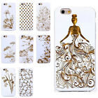 Artist Elegant Unique Ultra Thin White Solid Gold Carbon TPU Back Cover iPhone 6
